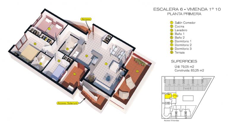 Plano A10 - 179.000 € Amueblada